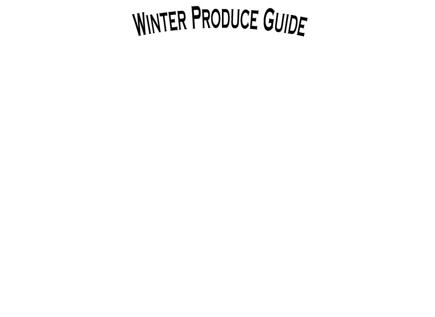 The Produce Wholesaler Winter Seasonal Guide